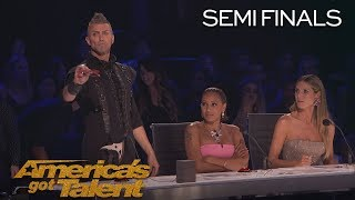 Aaron Crow: Howie Mandel Nearly Escapes Dangerous Performance - America's Got Talent 2018