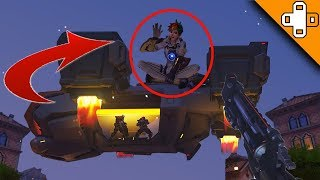 Tracer *FLIES BACK* to Talon HQ! Overwatch Funny & Epic Moments 473