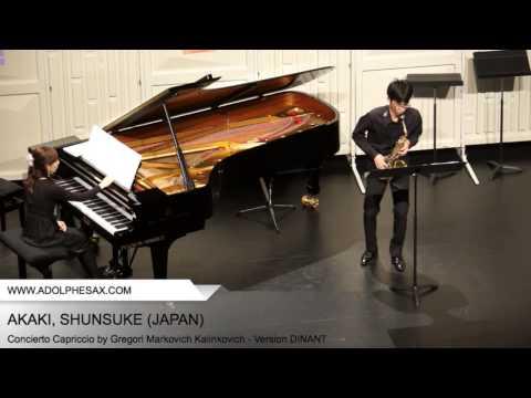 Dinant 2014 - AKAKI, Shunsuke (Concierto Capriccio by Gregori Markovich Kalinkovich - v.DINANT)