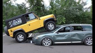 I Crushed an Audi and a Kia with My Land Rover Defender