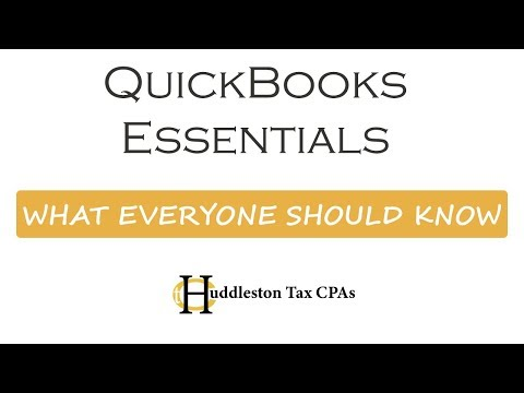 Quickbooks Overview - Essentials Every User Should Know (Small Business Webcast)