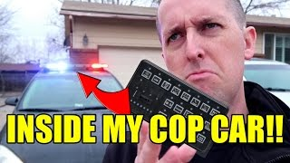 POLICE CAR TOUR - HOW TO WORK THE LIGHTS & SIREN