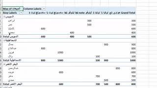 فيديو شرح pivot table في اكسل تحليل البيانات باستخدام pivot table