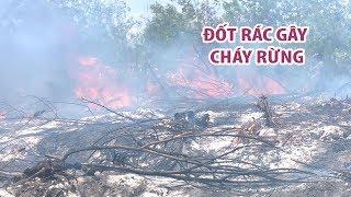 Công nhân xây dựng đốt rác gây cháy rừng, cả trăm cảnh sát, kiểm lâm dập lửa