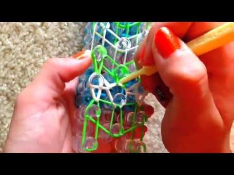 Double Rhombus Rainbow Loom Bracelet - How To Make a Rhombus Loom Guide