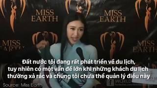 Hoa Hậu Hà Thu bắn tiếng anh đầy ấn tượng tại Miss Earth