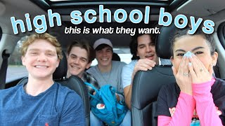 What highschool boys ACTUALLY want in girls
