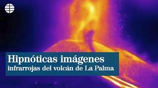 Hipnóticas imágenes infrarrojas de la actividad de las dos nuevas bocas del volcán de La Palma