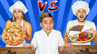 UNHEALTHY VS HEALTHY Pizza Challenge!! | The Royalty Family