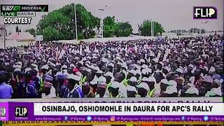 OSINBAJO, OSHIOMOHLE IN DAURA FOR APC'S RALLY