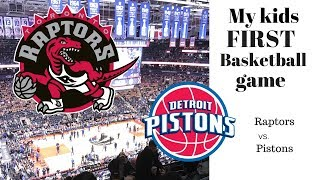 Kids first live basketball game Detroit Pistons vs. Toronto Raptors NBA