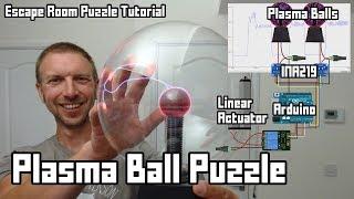 Plasma Balls + Arduino Escape Room Puzzle