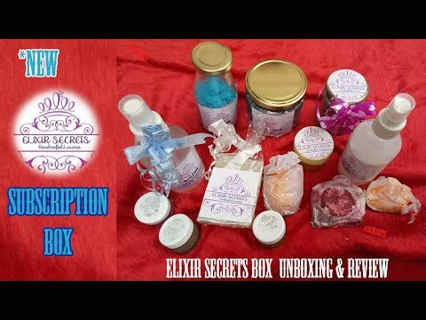 *New Elixir Secrets Subscription Box |First on YouTube|Honest Review |Handmade Products|Bath & Body
