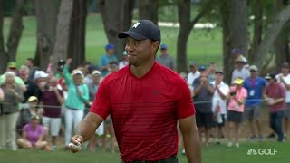 Top Shot: Tiger Woods birdies on 17 from 44 feet