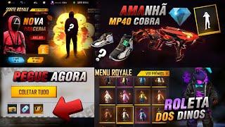 AMANHÃ!! MP40 COBRA DE VOLTA, CODIGUIN INFINITO, MODO BATATINHA 1,2,3 E TÊNIS ANGELICAL - FREE FIRE