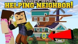 Minecraft: HELPING OUR EVIL NEIGHBOR!!! - Custom Map