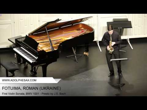 Dinant 2014 - Fotuima, Roman - First Violin Sonata, BWV 1001 - Presto by J.S. Bach