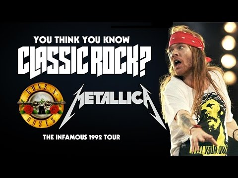 Baixar The '92 Guns N' Roses / Metallica Tour - You Think You Know Classic Rock?