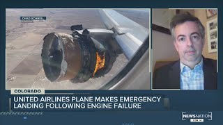 United Airlines plane makes emergency landing following engine failure