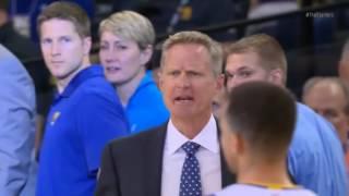 """Steve Kerr yelling at refs """"Justin! No way!"""""""