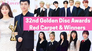 32nd Golden Disc Awards Red Carpet and Winners List (1st Day)  *2018*