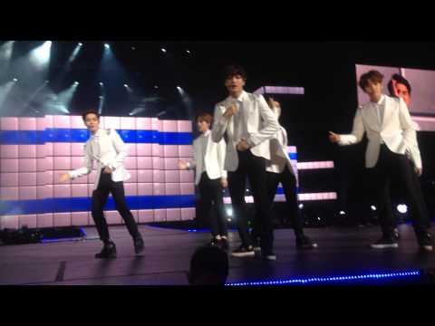 141030 Music Bank in Mexico. EXO-K Growl 으르렁 (Encore)