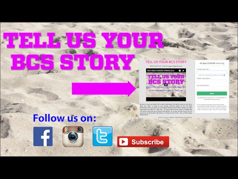 TELL US YOUR BCS STORY : Win a Go Pro & Free Year of Registrations