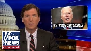 Tucker analyzes Biden's 'slow and painful' press conference