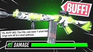 the FAL GOT BUFFED AGAIN in WARZONE! NEW 1 SHOT KILL SETUP!! (Modern Warfare Warzone)