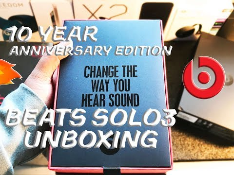 Beats Solo 3 Unboxing 10 Year Anniversary Limited Edition Colorway