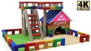 DIY - How To Build Amazing Puppy Dog House from Magnetic Balls (Magnet ASMR)   Magnetic Man 4K