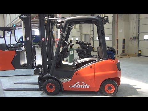 Linde H20 Forklift Exterior and Interior in 3D