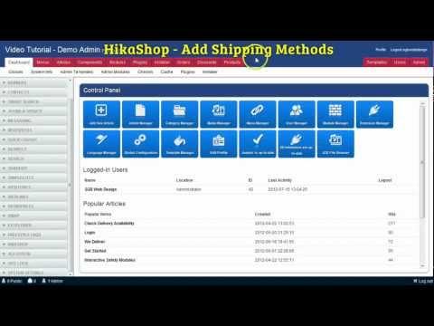 HikaShop - Add Shipping Methods