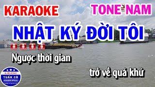 Karaoke Nhật Ký Đời Tôi Gm | Nhạc Sống Tone Nam Beat Tuấn Cò
