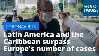 Latin America and the Caribbean surpass Europe's number of coronavirus cases