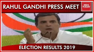 Rahul Gandhi Addresses Press Conference; Congratulates Modi And BJP | Results 2019