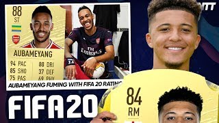 FOOTBALLERS REACT TO THEIR FIFA 20 CARDS!   #WNTT