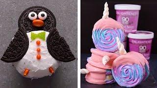 Unicorn Meringue Ice Cream Sandwiches & Penguin Cupcakes! | DIY Homemade Desserts & Decoration Ideas