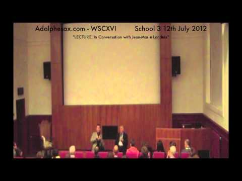 WSCXVI LECTURE  In Conversation with Jean Marie Londeix