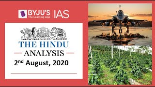 'The Hindu' Analysis for 2nd August, 2020. (Current Affairs for UPSC/IAS)