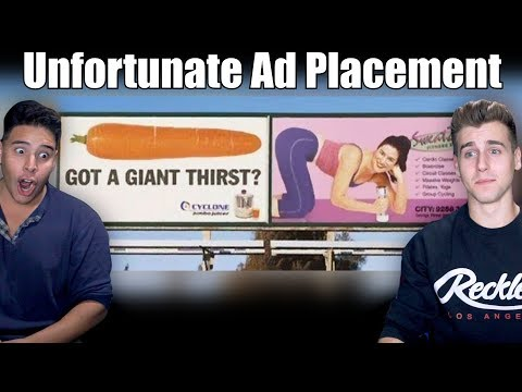 Unfortunate Advertising Placements