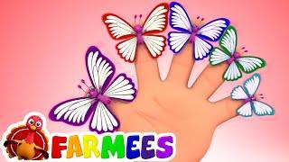 Mariposa dedo familia   Canciones para bebes   Educación   Farmees Español   Música infantil
