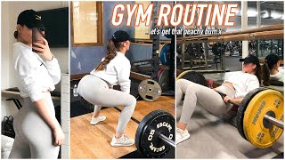 MY GYM ROUTINE - FULL BUM & LEGS DAY! Best Glute Exercises as a Beginner