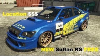 GTA 5 -RARE Sultan RS  Location 100%