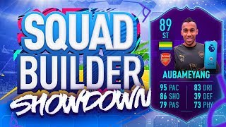 FIFA 19 SQUAD BUILDER SHOWDOWN!!! PLAYER OF THE MONTH AUBAMEYANG!!! 89 Rated Auba Vs Itani