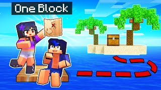 My ISLAND In Minecraft Raft ONE BLOCK!