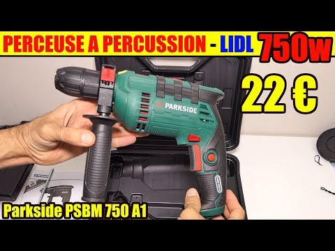 lidl perceuse percussion parkside psbm 750 hammer drill schlagbohrmaschine. Black Bedroom Furniture Sets. Home Design Ideas
