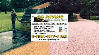 Chip Sealing Over a older Black Top Driveway. www.cdpaving.net