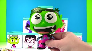 Unboxing Teen Titans Go Boxes with Robin Starfire & Raven Toys