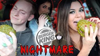 Trying The GREEN NIGHTMARE BURGER from Burger King! | Steph Pappas